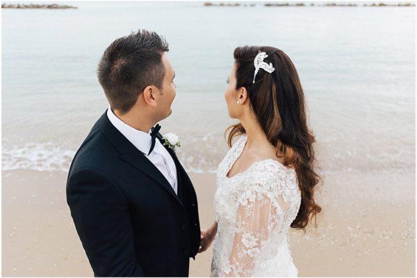 Fotografo matrimonio in spiaggia in abruzzo